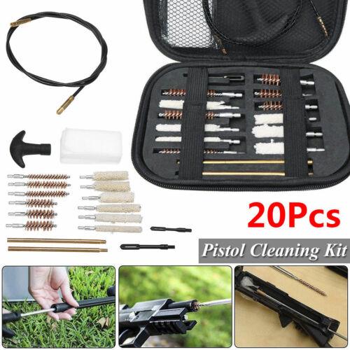 Pistol Cleaning Brush Kit Carrying Case For Caliber Hand Gun