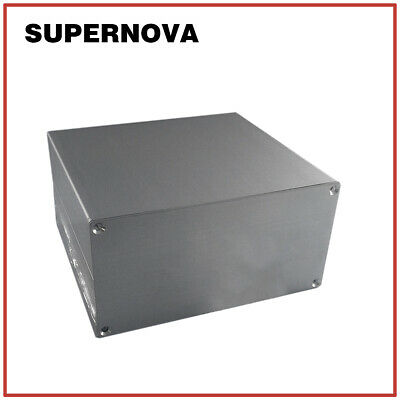 13013765 Silver Aluminum Pcb Instrument Box Enclosure Electronic Project Diy