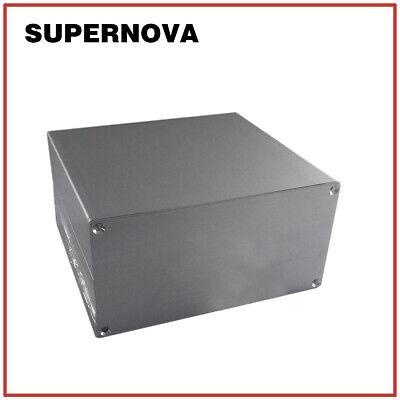 13013765 Silver Aluminum Pcb Instrument Box Enclosure Electronic Project Diy