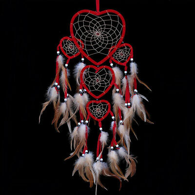 Heart Shaped Ornaments (Dream Catcher with Feathers Heart Shaped Wall Room Hanging Decoration)