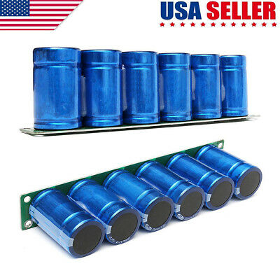 US 6pcs Farad Capacitor 2.7V 500F 35*60MM Super Capacitor With Protection Board