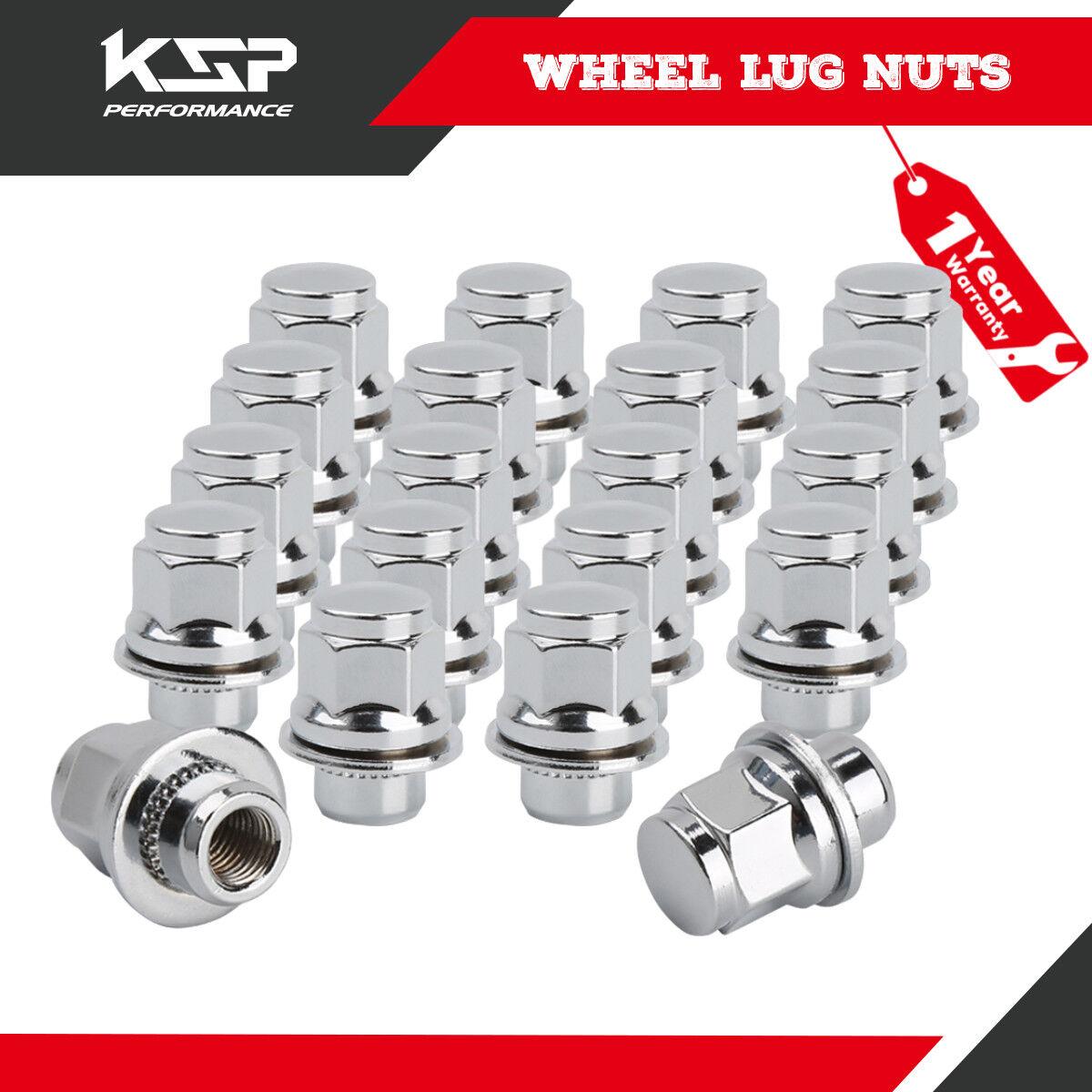 Socket Key 24 Pc Chrome Spike Acorn Seat Lug Nuts M12x1.5 6x5.5 Tundra Tacoma