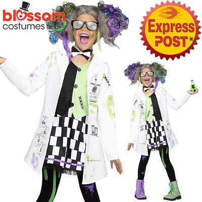 CK1256 Girls Mad Scientist Evil Doctor White Coat Lab Einstein Halloween Costume