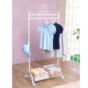 white vintage clothes rail rack decorative wardrobe shoes. Black Bedroom Furniture Sets. Home Design Ideas