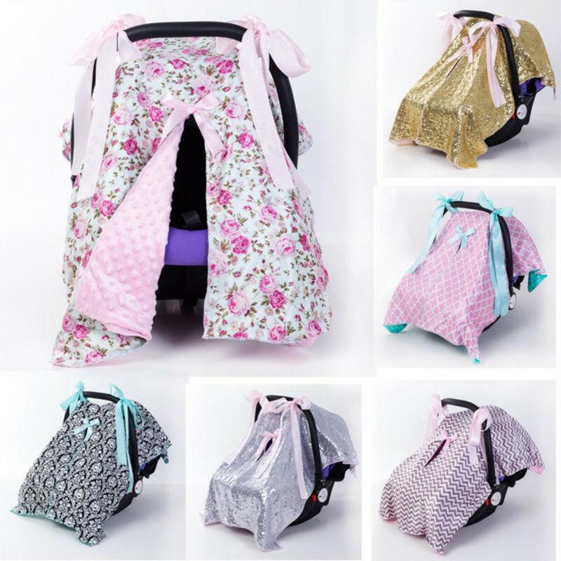 Baby Stroller Pram Car Seat Cover Breathable Muslin Sun Shade Canopy Blanket 🔥