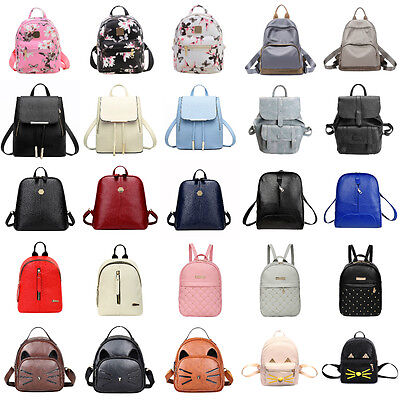 Women Backpack Leather Handbag Shoulder Bag Rucksack Purse Satchel Schoolbag Lot