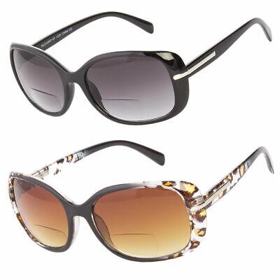 Bifocal Fashion Squa Reading Sunglasses Sun Reader Tinted Fashion Women (Tinted Bifocal Reading Glasses)