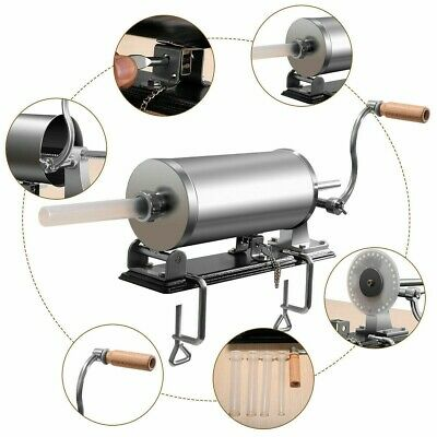New 6lb 3.6l Sausage Stuffer Maker Meat Filler Machine With 4 Casing Tubes