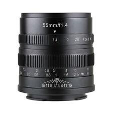 7artisans 55MM F1.4 MANUAL Fixed LENS  Fujifilm X Mount Black  x-pro2 x-T20 x-H1