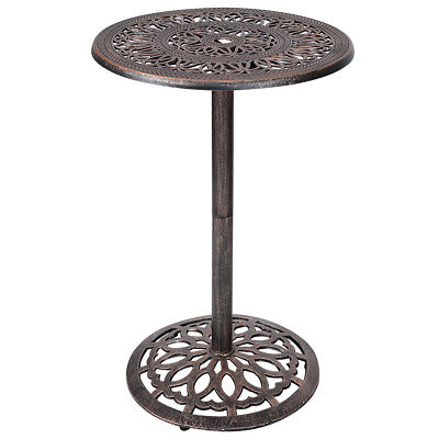 Cast Aluminum Round Bar Table Bar Height Outdoor Patio Pub Bistro Furniture New