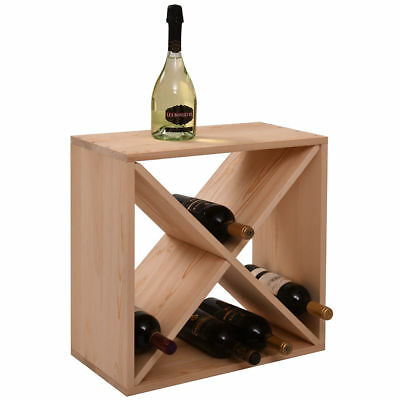 24 Bottle Holder Bar StorageNEW Wood Wine Rack Kitchen Decor Glass Display Home 24' Wood Rack Bars