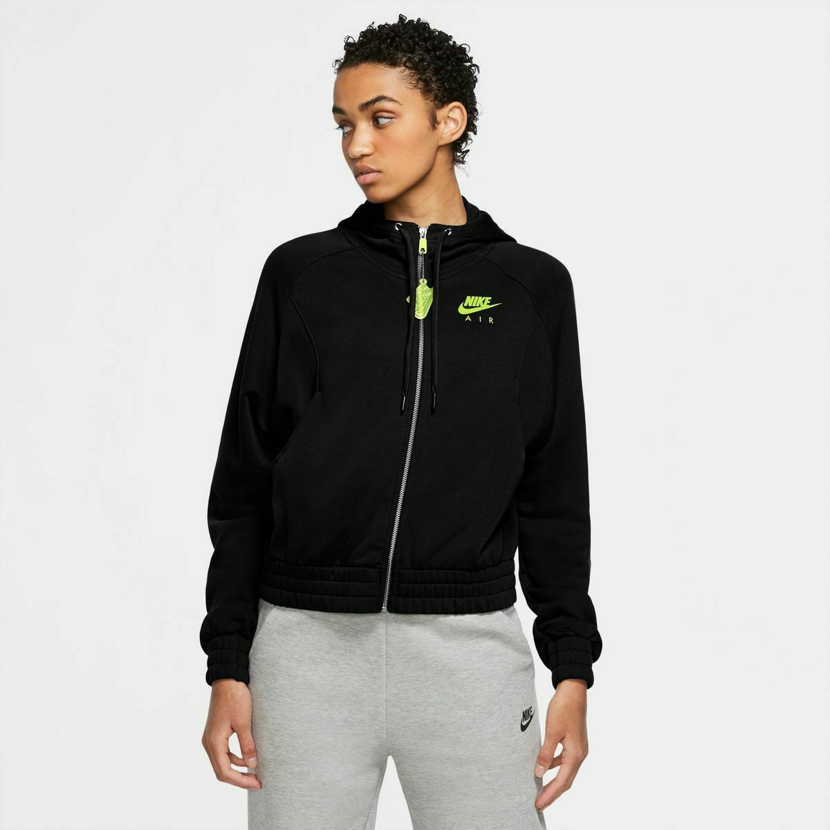 FELPA NIKE DONNA CU5442 011 FULL ZIP CON CAPPUCCIO ORIGINALE AIR W NSW HOODIE