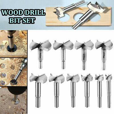 10pcs Steel Forstner Drill Bits 15-60mm Wood Hole Cutter Auger Opener Hole Cut