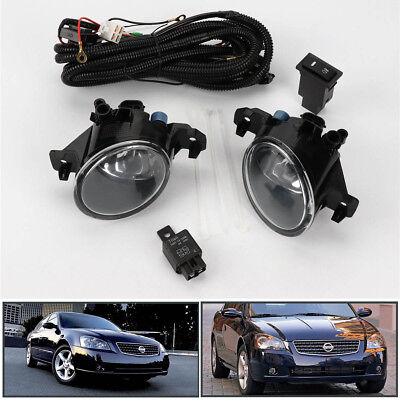 - Pair Clear Front Bumper Fog Lights Lamp w/Switch For Nissan Altima JDM 2005-2006