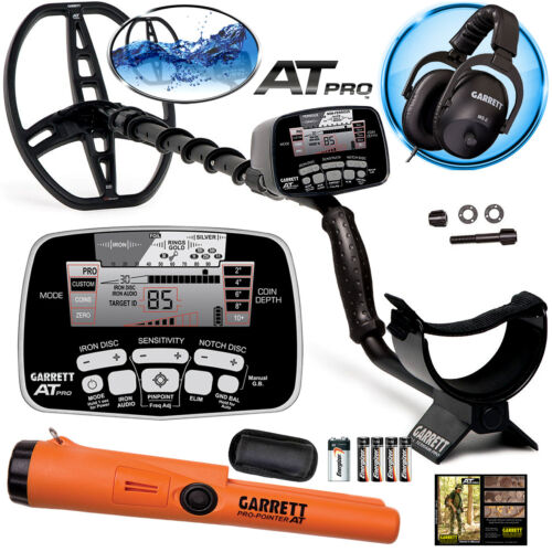 Garrett AT Pro Metal Detector with MS-2 Headphones, Pro-Pointer AT Waterproof