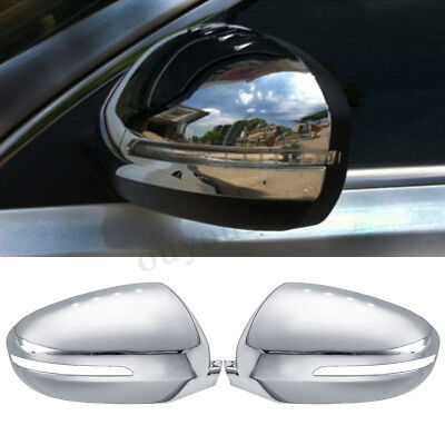 For KIA K5 Optima 2011-2015 Chrome Side Door Rearview Mirror Cover Trim Set for sale  Shipping to Canada