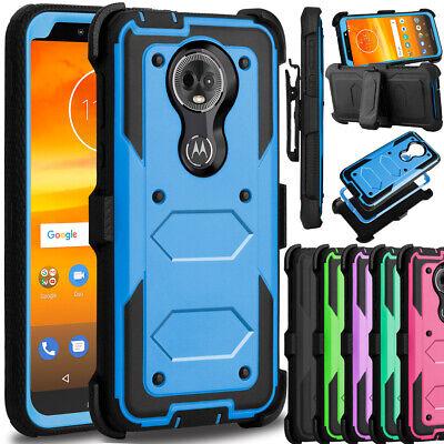 For Motorola Moto G7 Power/ Supra Case Shockproof Hybrid Clip Holster Hard Cover ()