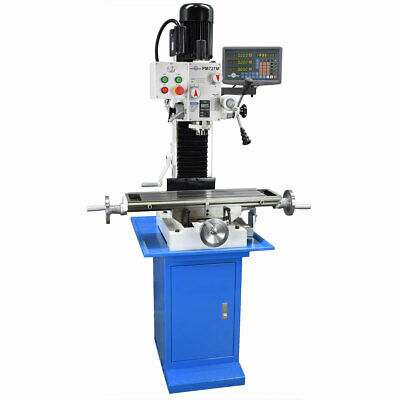 Pm-727v Vertical Bench Top Milling Machine Wstand Digital Readout Free Shipping