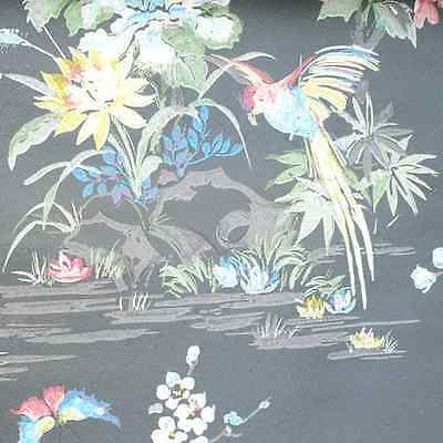 1950s ORIGINAL BIRDS OF A FEATHER Stunning  Vintage Wallpaper 1940s 50s