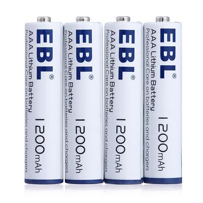 4x EBL 1200mAh AAA 1.5V Triple A Lithium Non-Rechargeable Batteries US Stock     for sale  La Puente