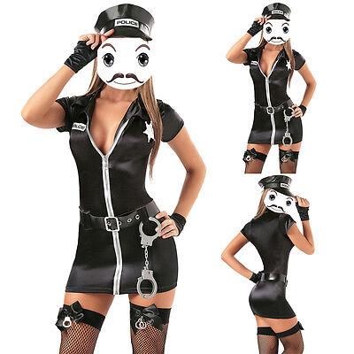 üm Cop Uniform Frauenkostüm Politess Polizeikostüm Cosplay  (Frau Cop Kostüme)