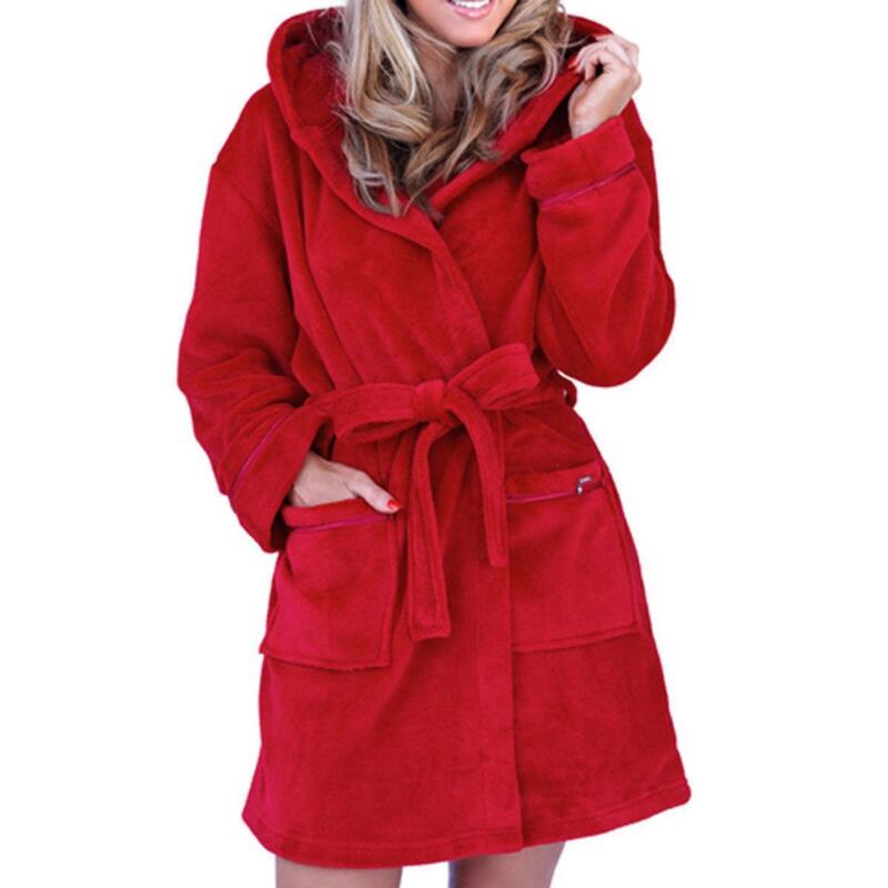 Womens Hooded Dressing Gown | eBay