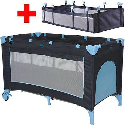 Reisebett + Einhang Kinderbett Kinderreisebett Babyreisebett Kind Baby Bett NEU