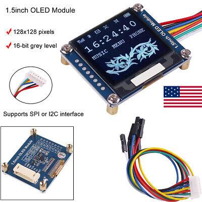 Dc 3.3v 5v 128x128 I2c Oled Display Module 1.5 Ssd1327 Spii2c For Arduino Uk