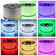 20m 30m 50m 100m 220V IP68 5050 SMD LED Flexible Rouleau Ruban Strip Xmas Lampe