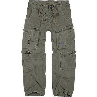 Brandit Pure Vintage Military Style Combats Cotton Trousers