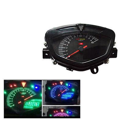 12V Multi-Function LCD Speedometer Odometer Gauge 7 color Backlight Adjustable for sale  China