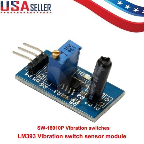 LM393 Vibration switch sensor module for intelligent vehicle 5V 3.3V