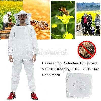 Beekeeper Protection Bee Keeping Suit Safety Veil Hat All Body Smock Clothing