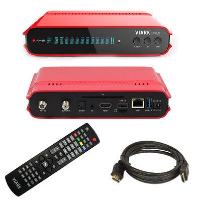 Viark DROI 4K Combo DVB-S2 Sat Satelliten Receiver DVB-C/T2 Andoid Wifi IPTV