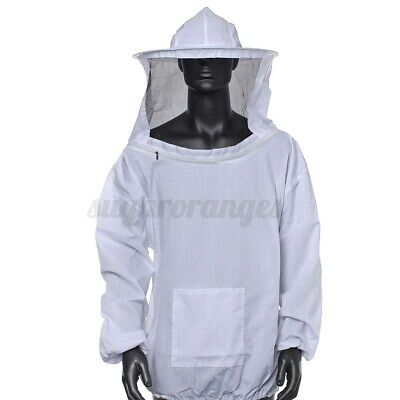Adults Cotton Beekeeper Protect Bee Keeping Suit Jacket Safty Veil Hat Body
