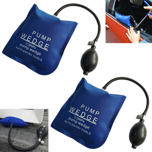 2pcs Air Pump Wedge inflatable Bag Up Clamp Shim For Car Door Window Lock Entry