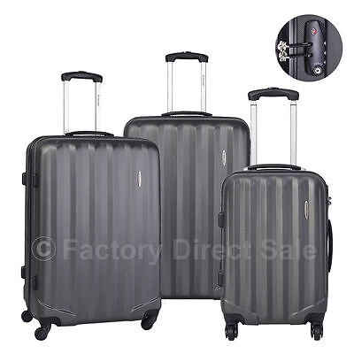 Купить Goplus - GLOBALWAY 3 Pcs Luggage Travel Set Bag ABS Trolley Suitcase w/TSA Lock Gray