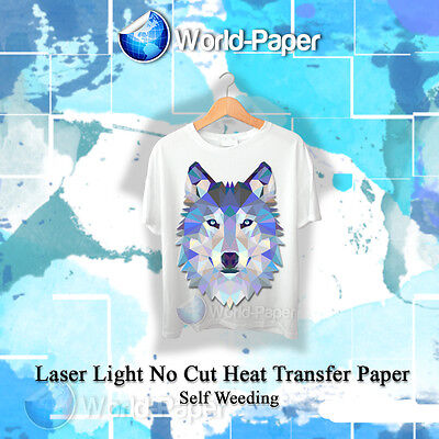 Laser Iron-on Trim Free Heat Transfer Paper Light Fabric 25 Sheets 8.5 X 11