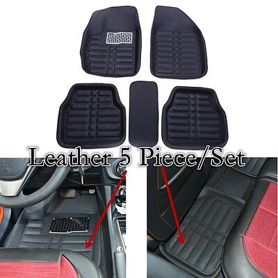 5Piece Universal Front Rear Black Car Mat Carpet Grip FLOOR MATS All Weather Mat