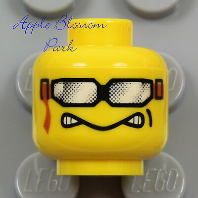 NEW Lego Snowboard Goggles MINIFIG HEAD - Snow Race Skate Board Boy Sun Glasses for sale  Shipping to India