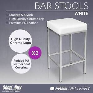 Free Delivery: Set of 2 PU Leather Kitchen Bar Stool Heavy Duty Box Hill Whitehorse Area Preview