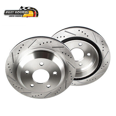 For FX50 M35h M37 M56 REAR PERFORMANCE DRILLED AND SLOTTED BRAKE ROTORS
