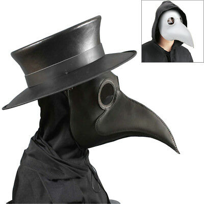 US Plague Doctor Mask Birds Long Nose Beak Faux Leather Steampunk Halloween 2018](Plague Doctor Mask Halloween)