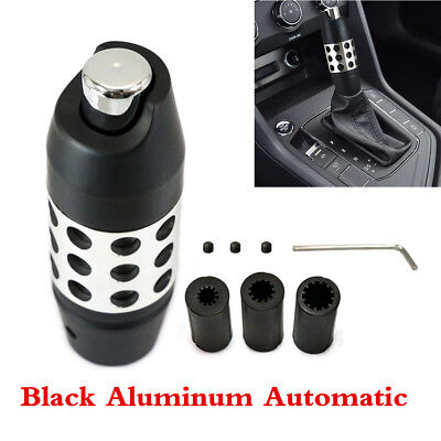 Black Aluminum Automatic Car Gear Stick Shift Shifter Lever Knob Black W/Button  for sale  Shipping to Canada