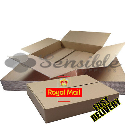 100 x ROYAL MAIL MAXIMUM SIZE SMALL PARCEL POSTAL MAILING BOX - 449X349X79mm