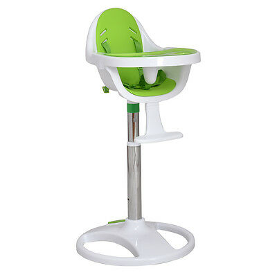 Green Pedestal Baby High Chair Infant Durable Feeding Dining Table Safety Seat