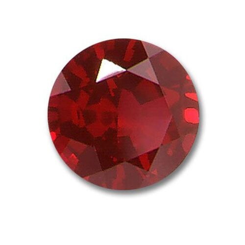 6 MM Transparent Burma Pigeon Blood Color Ruby Gemstone GIE Certified