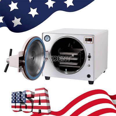 Usa 18l Medical Steam Autoclave Sterilizer Device Dental Safety Equipment Fda