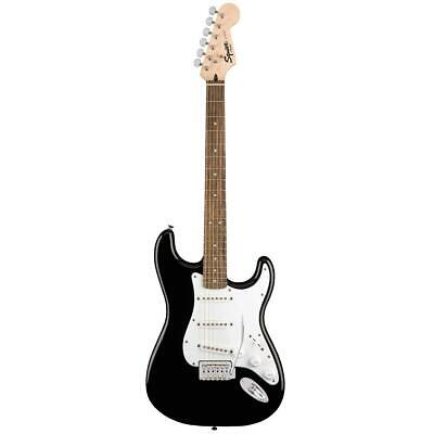 stratocaster 6 string electric guitar pack black