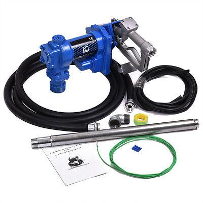 12v Dc Gasoline Fuel Transfer Pump 20gpm For Gas Diesel Kerosene W Nozzle Kit